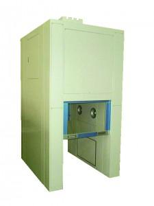 インターロック室、エアガン付き荷物用エアシャワー